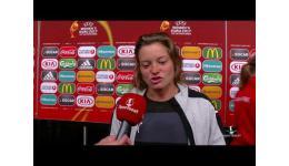 Embedded thumbnail for Verena Aschauer na verlies halve finale EK vrouwen Oostenrijk