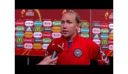 Embedded thumbnail for Goalkeeper Stina Lykke Petersen  brings Denmark into final European championship women's football