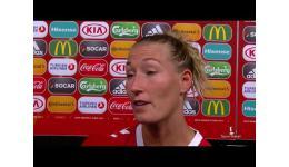 Embedded thumbnail for Theresa Nielsen na plaatsing met Denemarken voor finale EK vrouwen